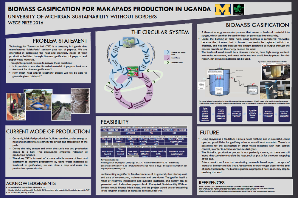 Overview of the University of Michigan Sustainability Without Borders team's solution (click to enlarge)