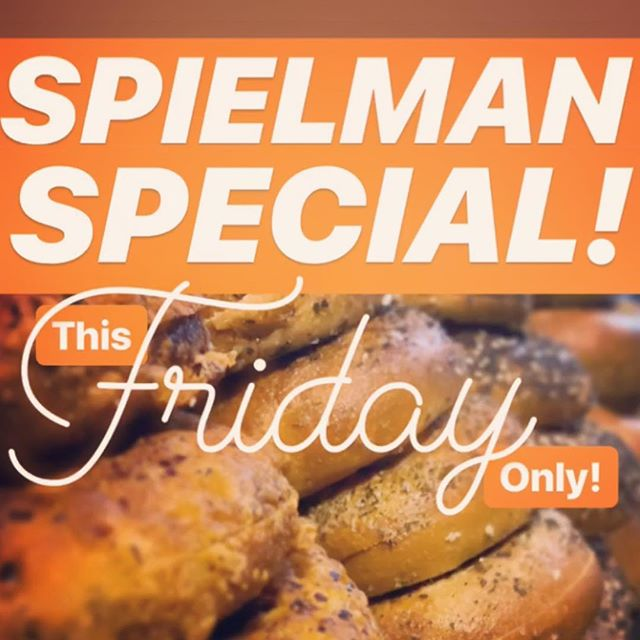 Good news everyone! We need your help eating all these bagels! 50% off all Spielman Bagels today! Try them perhaps with fancy cream cheese or a breakfast sammich! #bagelsandcoffee #coffeeandbagels #bagelsandbagels