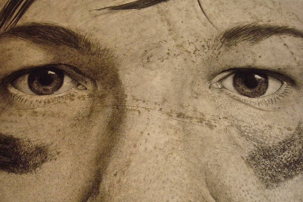 Self-portrait detail