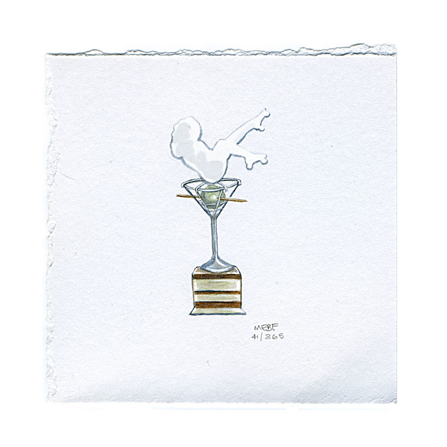 Olive Championship Trophy. Derby subject requested by Kelly G. | Watercolor