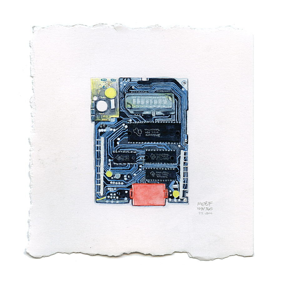 Suggested by Erin R. | Watercolor, verithin colored pencil, chalk, marker
