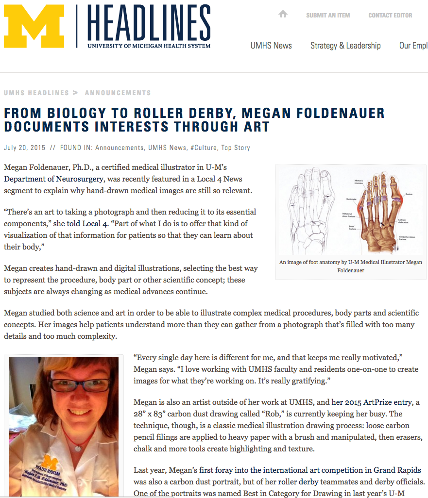 Megan Foldenauer Creative - UMHS Headlines: FROM BIOLOGY TO ROLLER ...