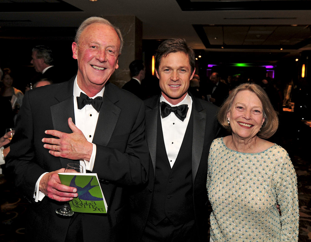 Ann and Frank Bumstead at La Bella Notte 2013 with actor Eric Close from the TV series  Nashville