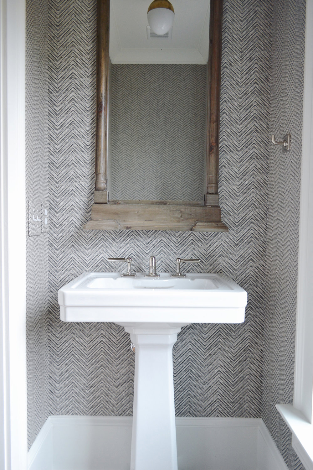 DXV freestanding sink with Phillip Jeffries Wallpaper.jpg