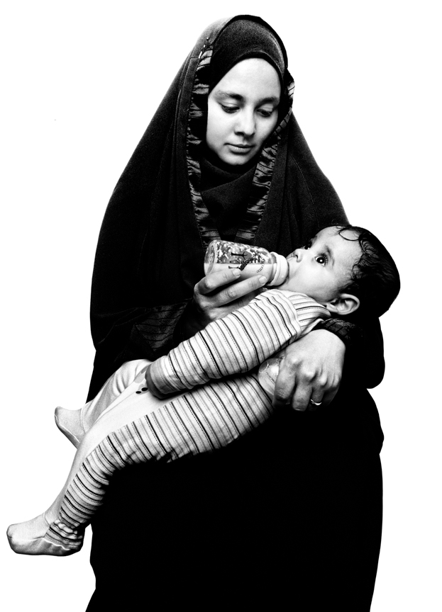 Naema El Sayed and her child, Yassin Lotfy
