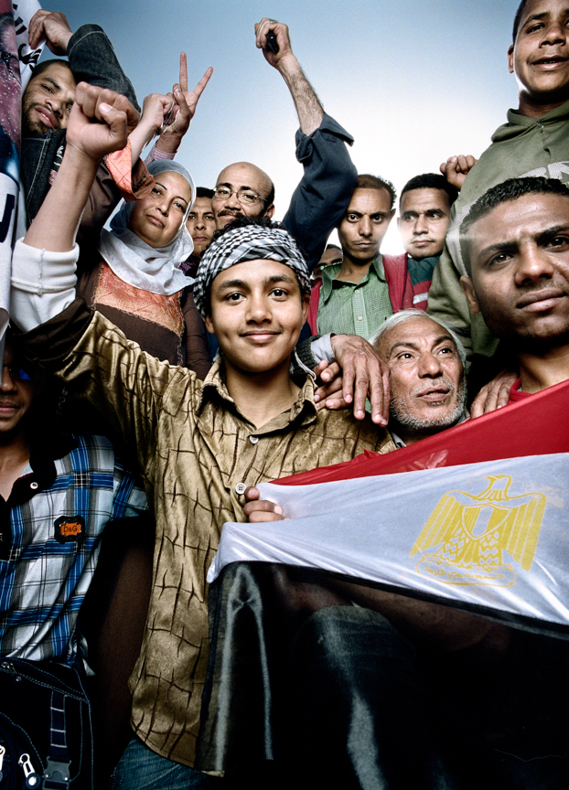 "On April 1, 2011, Egyptians returned to Tahrir Square in Cairo for a rally to ""save the revolution"" and protect their right to demonstrate."