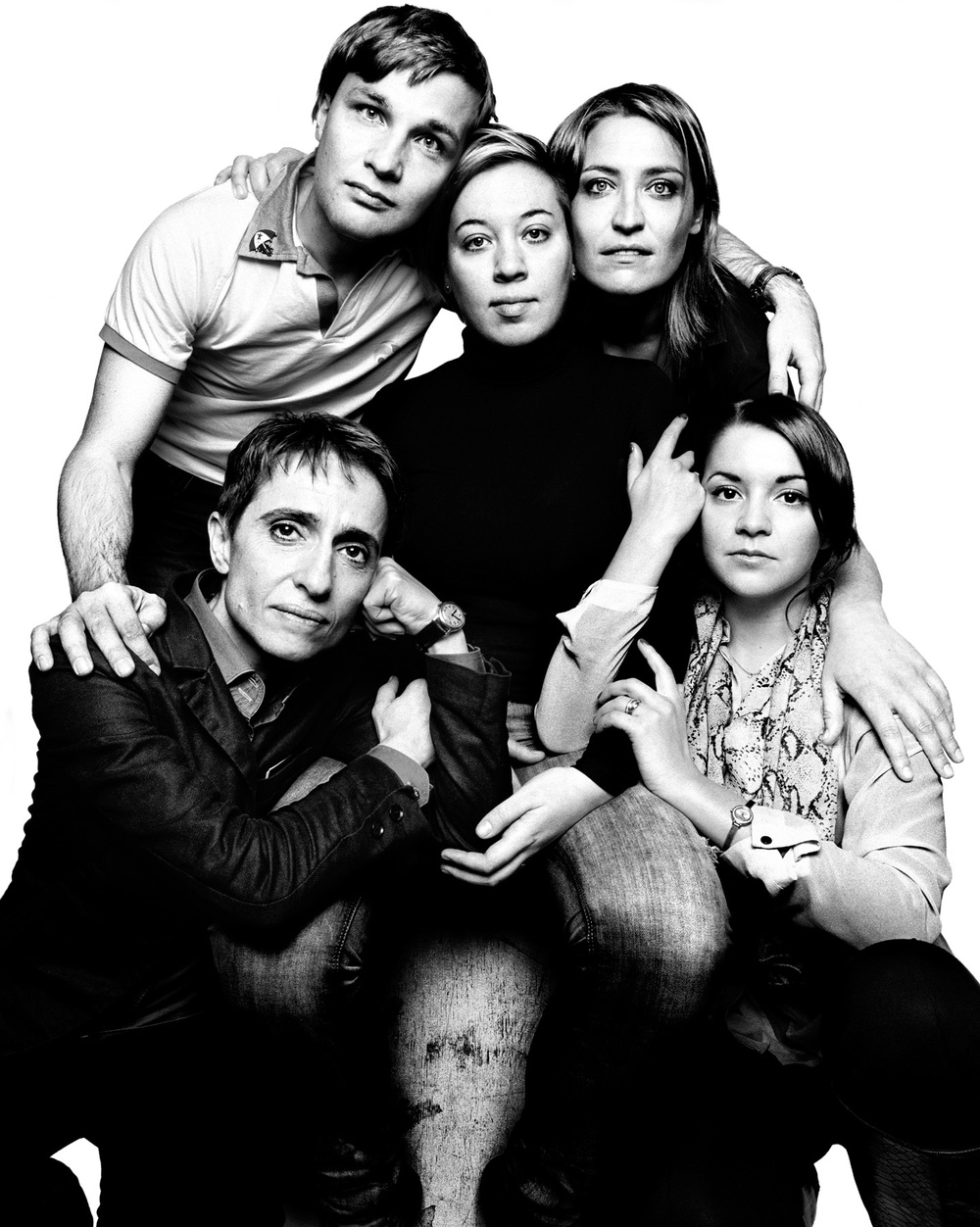 "[clockwise from top left] Konstantin Yablotskiy, Maria Kozlovskaya, Elvina Yuvakaeva, Anastasia Smirnova and Masha Gessen are leaders in the fight against Russia's anti-gay ""propaganda"" law and policies, despite constant threats against them."