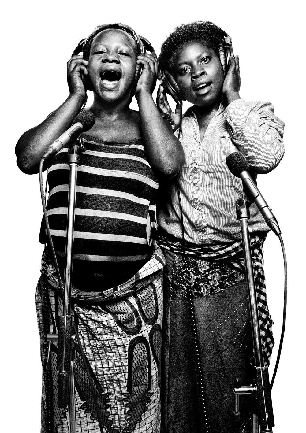 Imani Kasengezi, 15 and Sara Bisimwa, 15