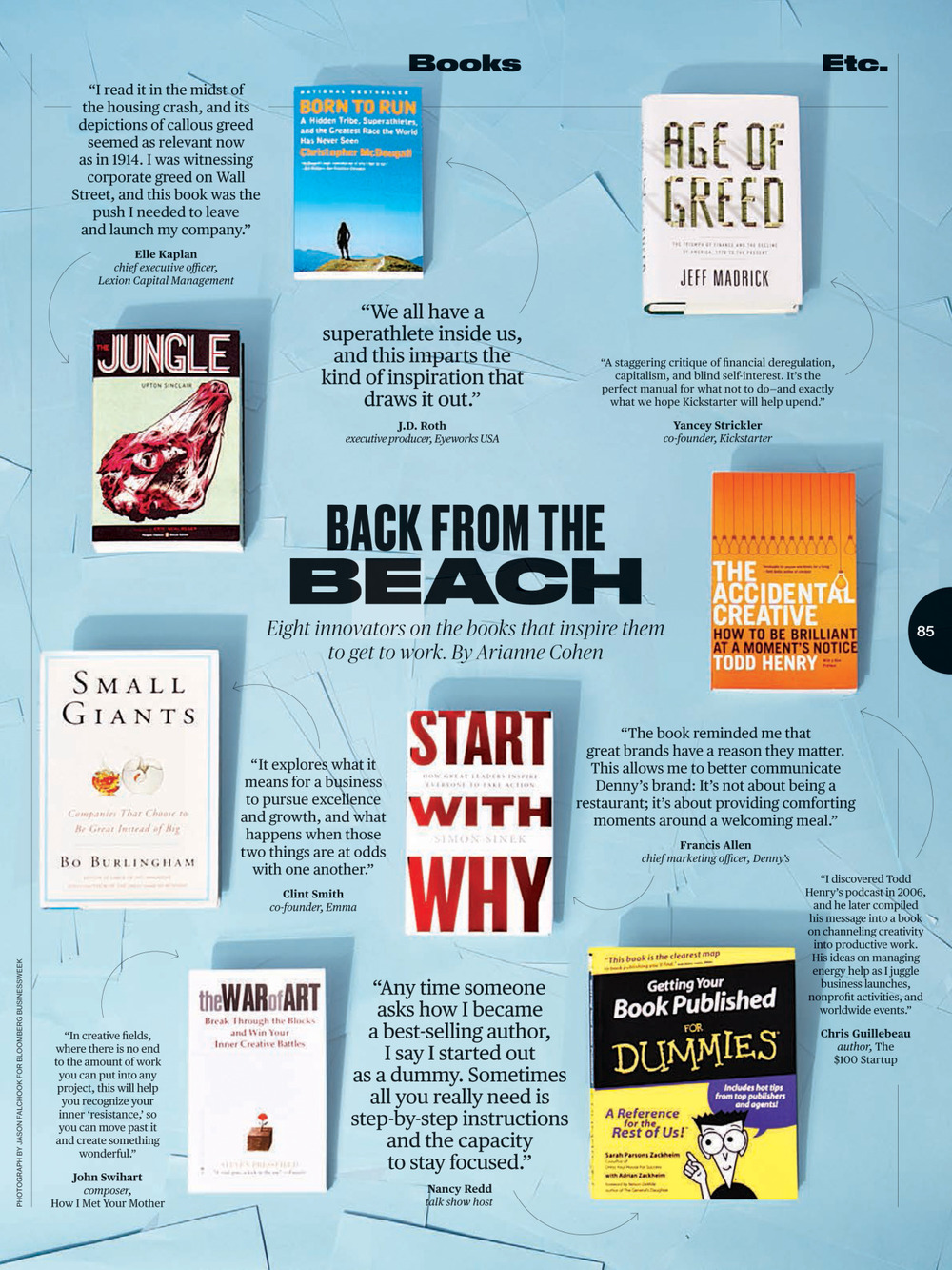 New work in Bloomberg Businessweek. Back from the Beach.