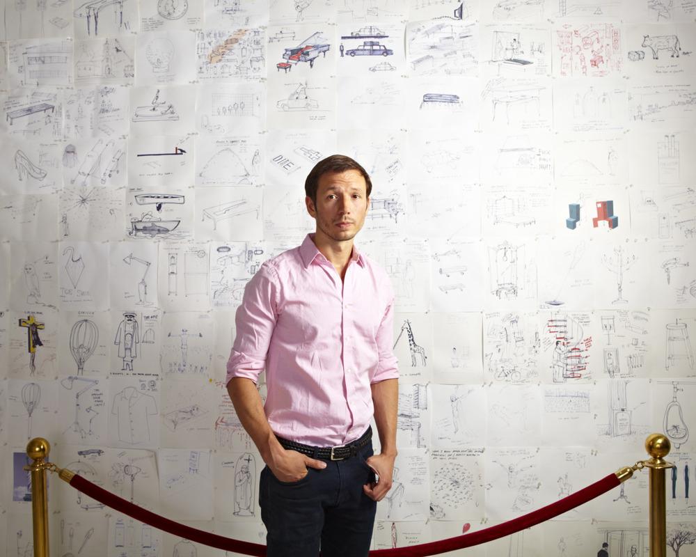 Outtake of artist/designer Sebastian Errazuriz for Carnegie Magazine.