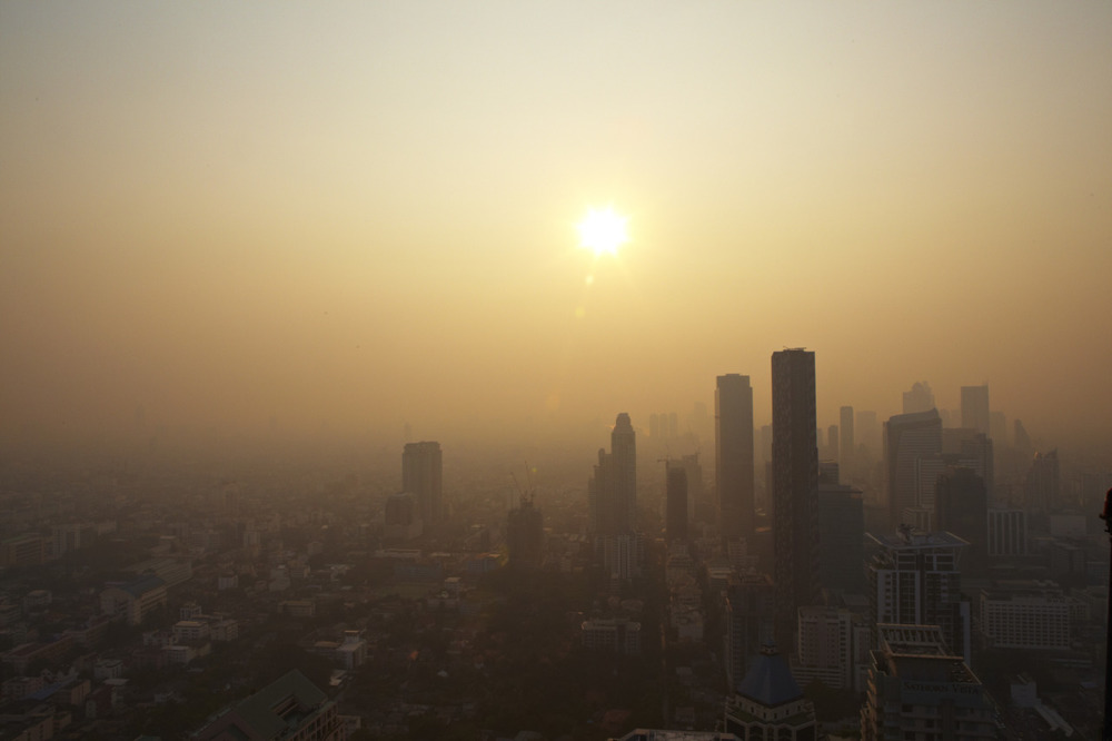 First of many pics to come from our month in SE Asia.  Sunset in Bangkok.