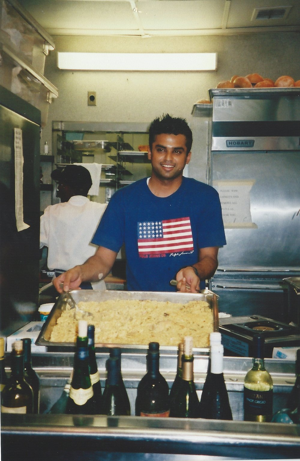Curry Leaf Cafe's Kanthi Thamma at Narcoossee's in the year 2000, shortly after starting his mentorship under Chef Celina Tio at The Grand Floridian hotel, Disney World Florida