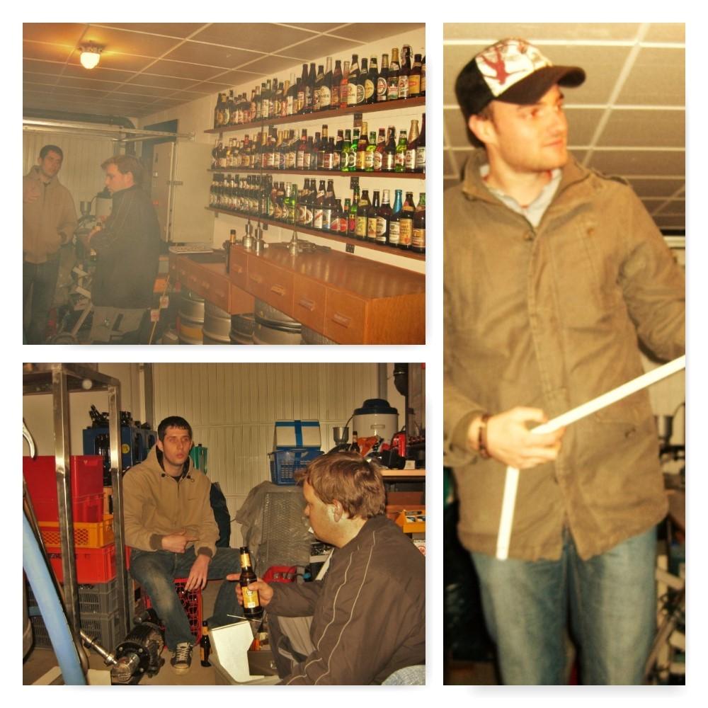 2008 bei der ersten Planung unserer Brauanlage