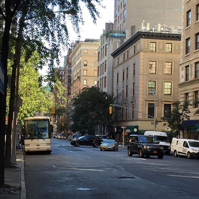 Eerie calm before the (Pope) storm. Madison Ave on Upper East side almost empty.