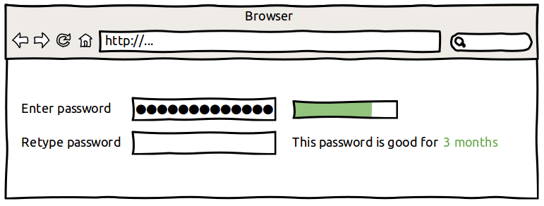 A more complex, more difficult to hack password has been entered.