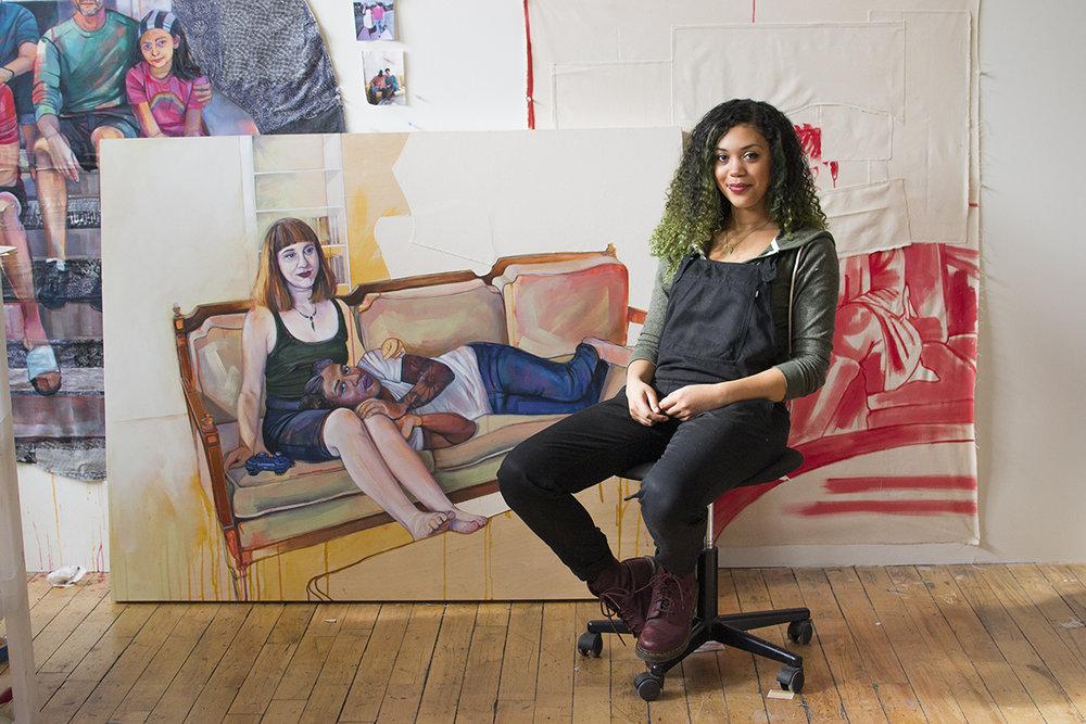 Leslie Barlow in her Studio