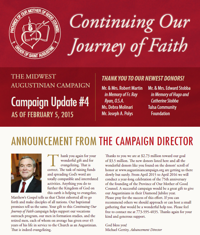 Augustinian Campaign Report #4