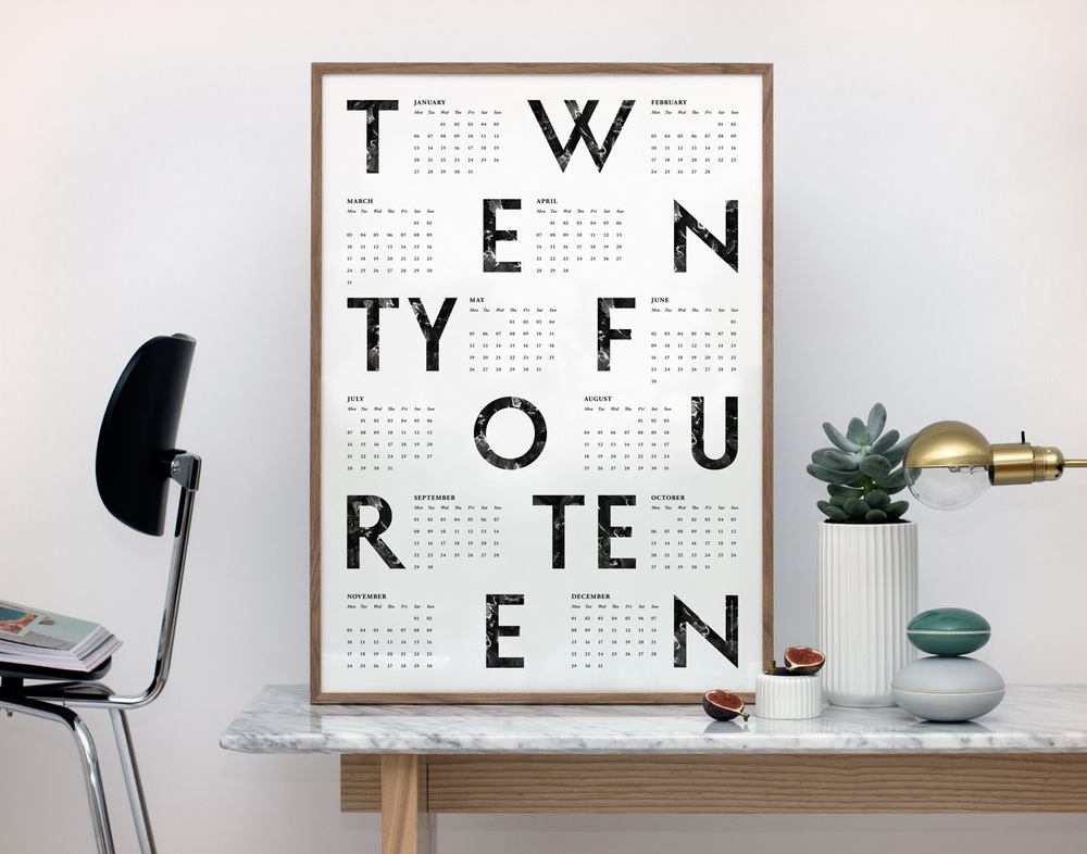 Photo from Dwell magazine...  fun modern calendar by Kristina Krogh