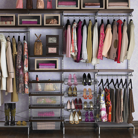 Another beautiful color coordinated closet using Elfa