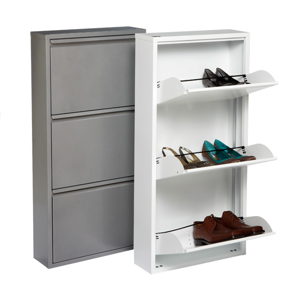 shoe storage that folds up flat