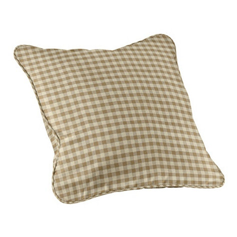 Ballard Designs checked pillow in toffee