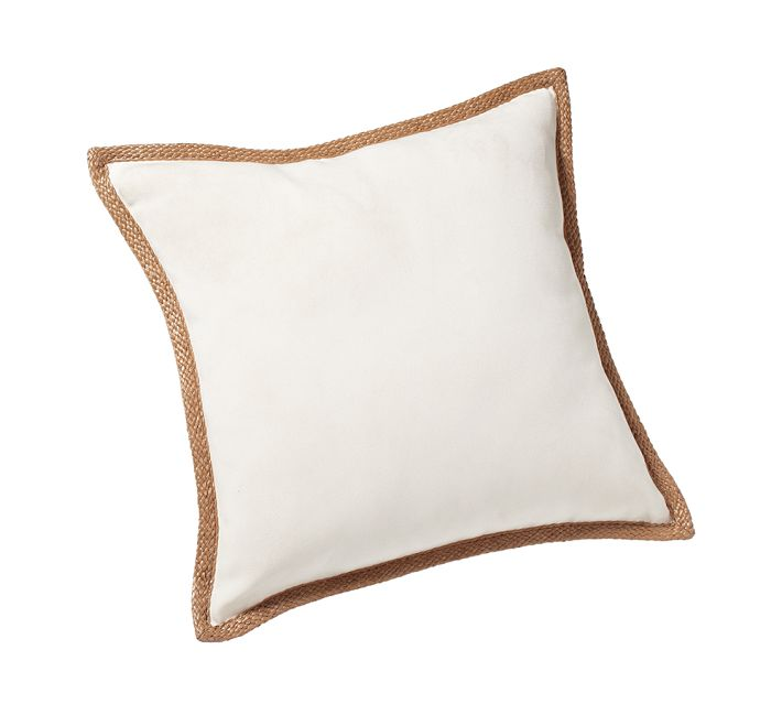 Pottery Barn's synthetic trim outdoor pillow