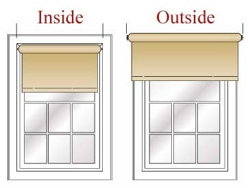 Measure For Inside Or Outside Mount Window Treatments The Inside