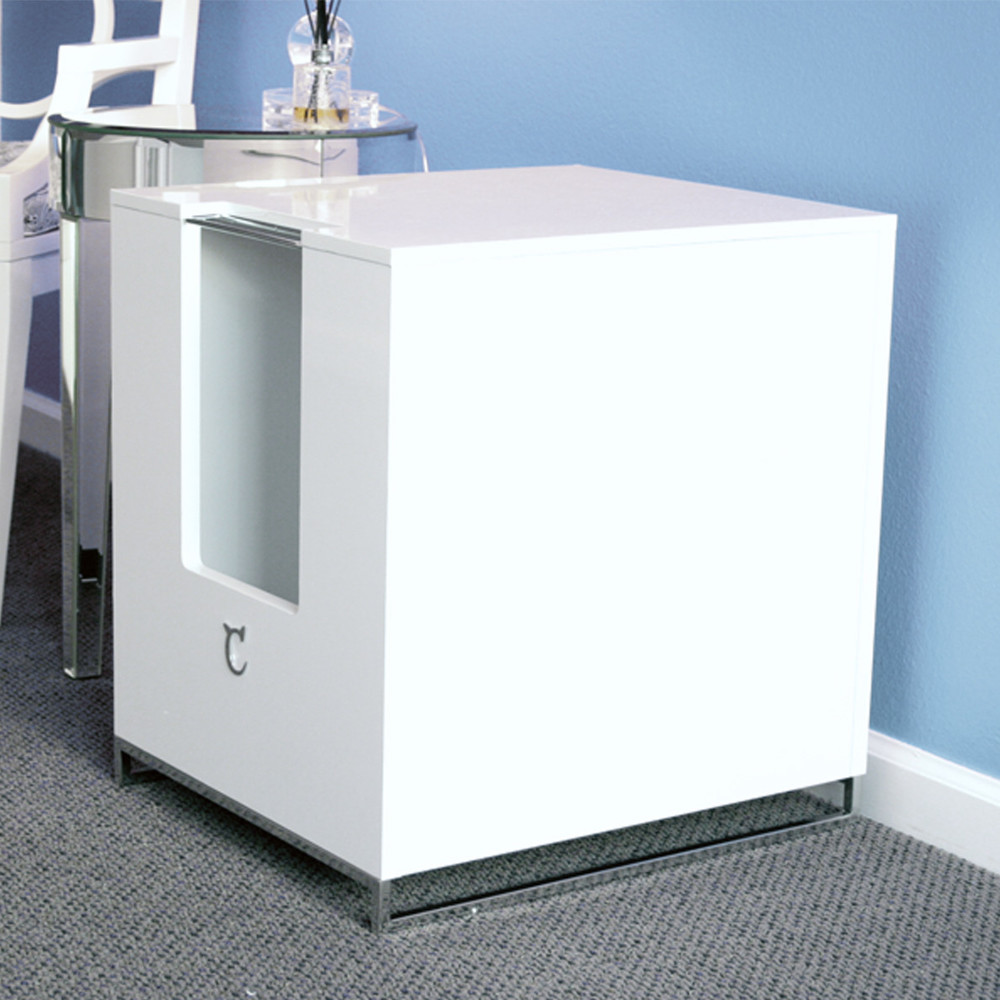 Quincy Litterbox enclosure in white