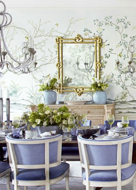 pamiam.com  dining room inspired by spring itself