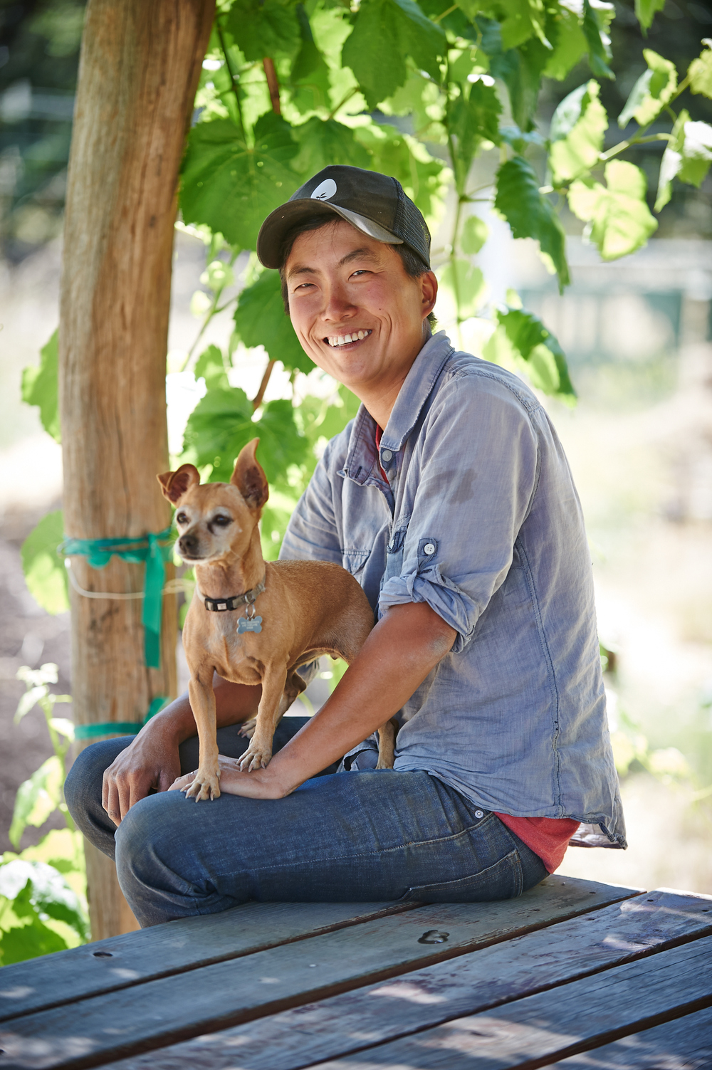 Kristyn Leach and her trustee pup farm a small parcel in the east bay. She supplies restaurants and other local concerns. More about her here.