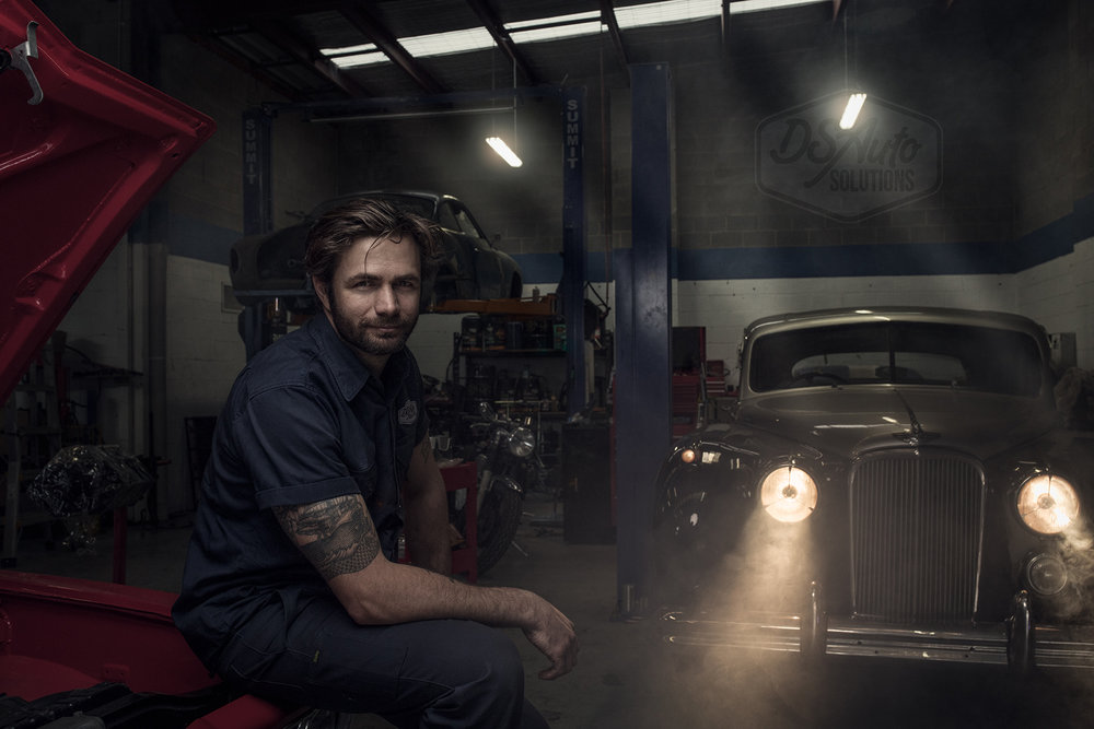 Portrait photography of Dan Scott from DS Auto Solutions