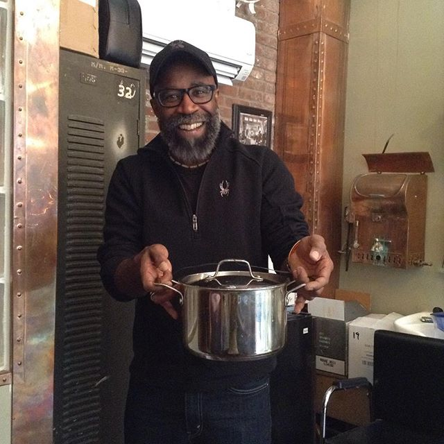 We have the nicest clients! Moses brought in some homemade chili!
