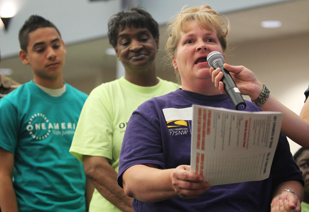 Deborah Osborn speaks out for good jobs