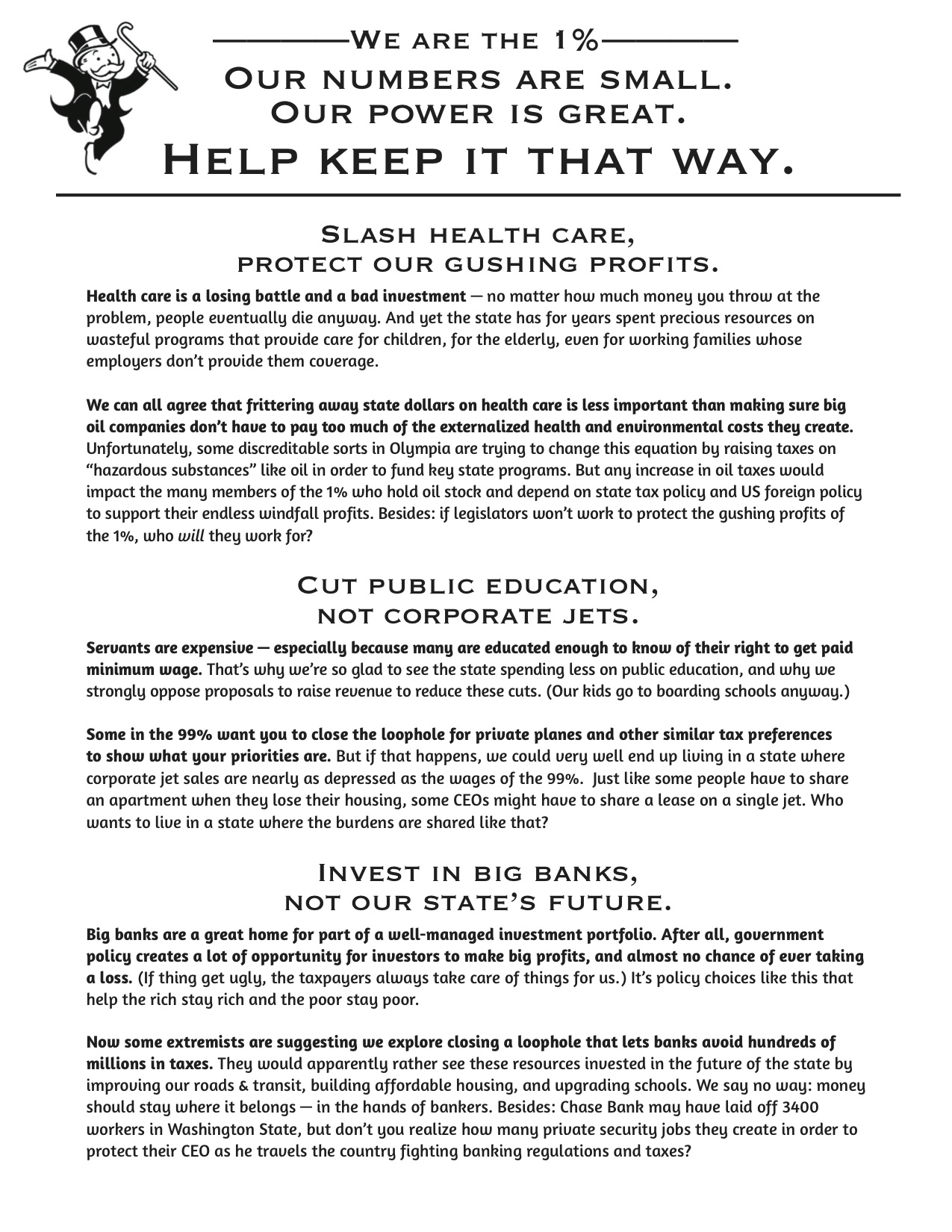 leaflet of the 1%
