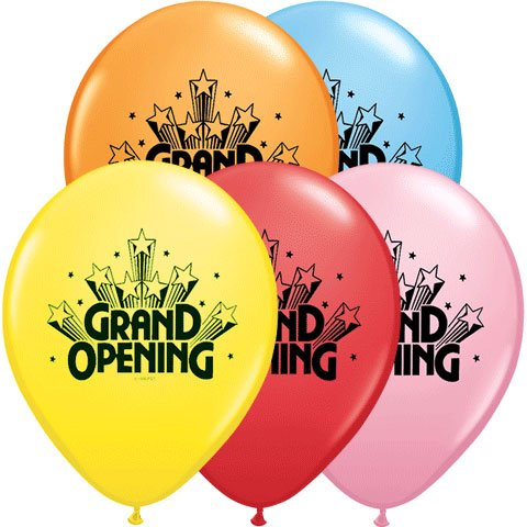 Are the sales of grand opening balloons skyrocketing?