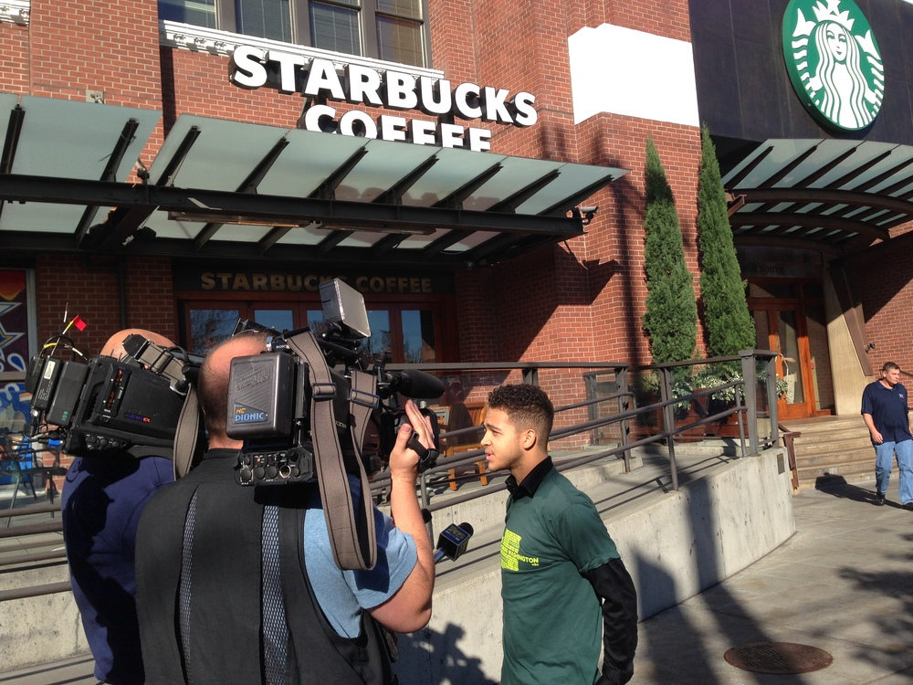 Darrion talks to Q13 & KING-5 about how Starbucks scheduling practices affect his life.