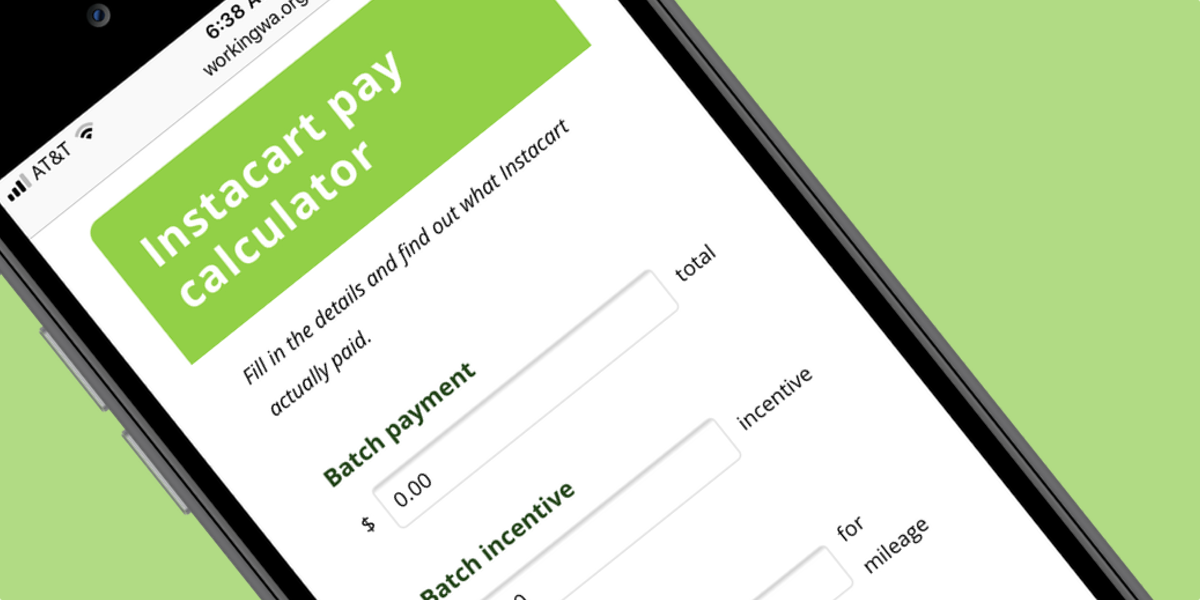 What is Instacart actually paying? — Working Washington