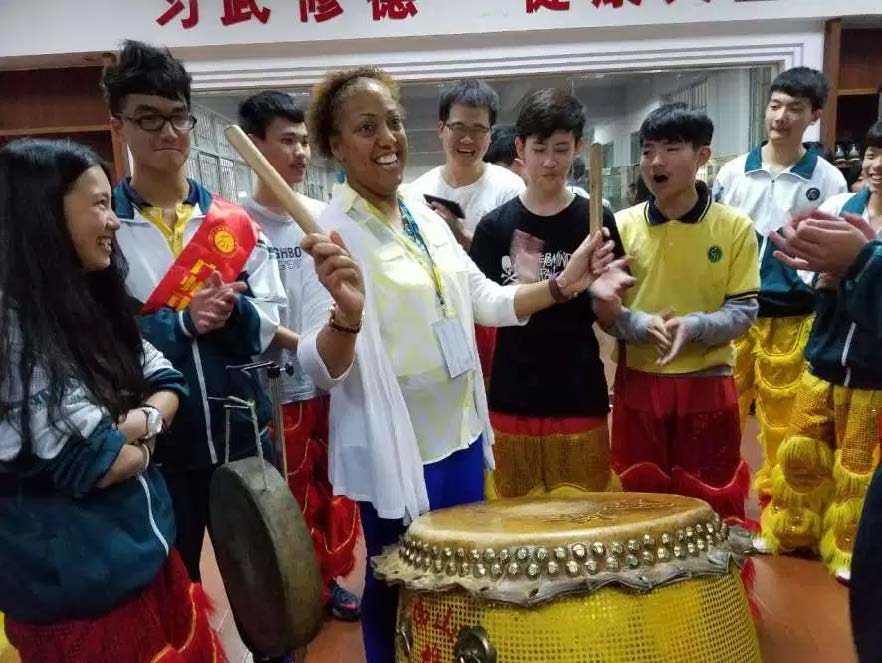 Cultural experience with Chinese students