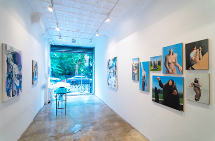These photos looks so bright and airy 💎 thanks to @_ryanmassey @masseykleingallery for beautiful curating and so much help to make this show happen. Come by Massey Klein and see the show for yourself! Tony's work looks fantastic and you can see my paintings too. The pictures are great, but it's better in person. Say hi to Ryan for me 👋 . . . . #art @tonytoscani #contemporaryart #lesgalleries #nyc #painting #gallery #lowereastside #dreamteam #artgallery #artist #painting #painter