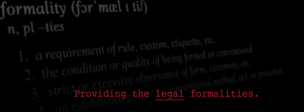 thelegalformalities