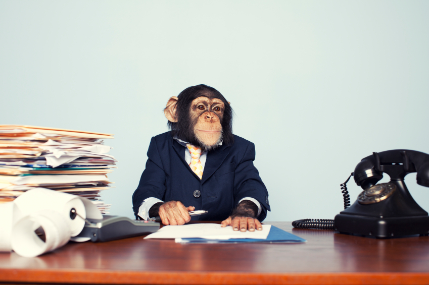 I had to use this image for this post. It is a monkey in a suit at a desk with paperwork. I know what people think of attorneys. Further, I think it was apt for this post. Lastly, I paid licensing fees for the image and had to make use of it (don't worry one post I will devote to licensing fees for you graphic designers, photographers, etc . . . but enjoy and laugh!