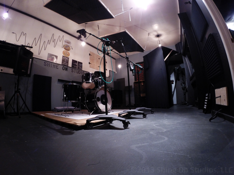 Live Room • Floating Drum Platform • 300w PA • Floating Gobos • ISO vocal booth