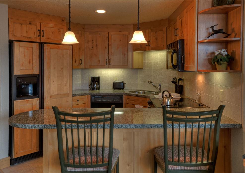 2 Bedroom/2 Bath Condo - Kitchen  Lodging in Steamboat Springs, Colorado