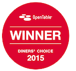 Winner of the OpenTable Diner's Choice Award