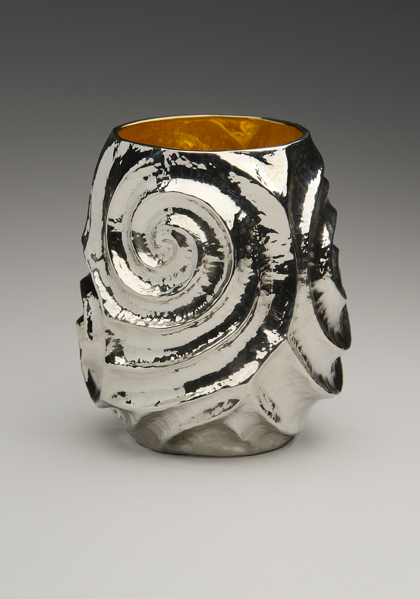 "Raised Silver Cup, ""Of New Grange II"""