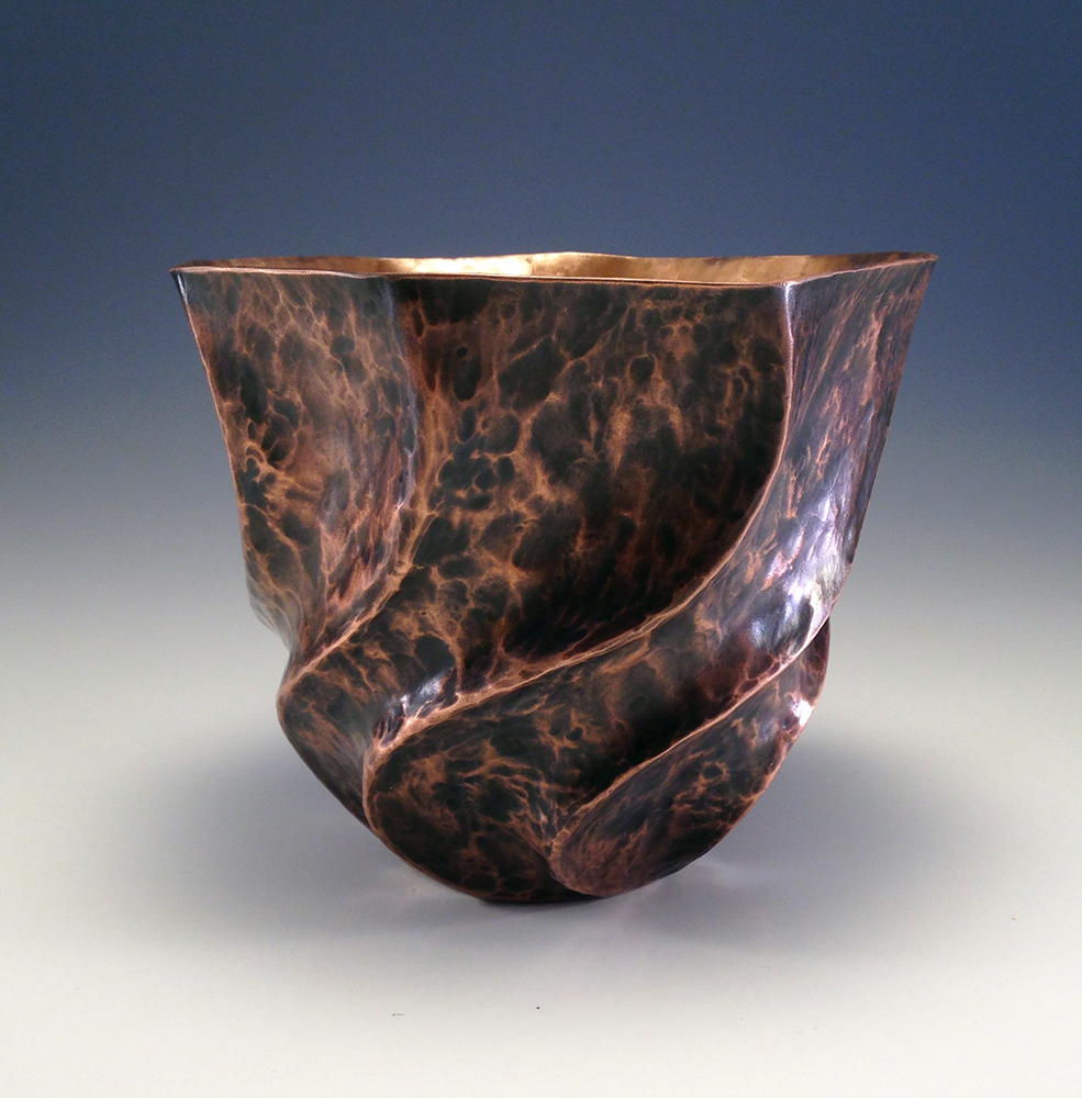 "Raised Copper Vessel, ""The Dancing Vase I"""