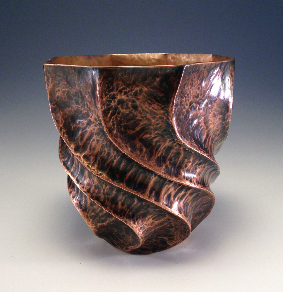 "Raised Copper Vessel, ""The Dancing Vase II"""