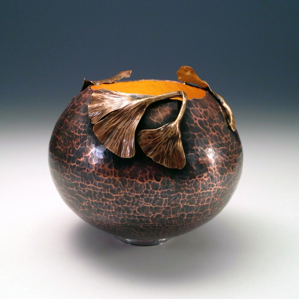 "Raised Copper Vessel, ""A Place for Memory XI"""