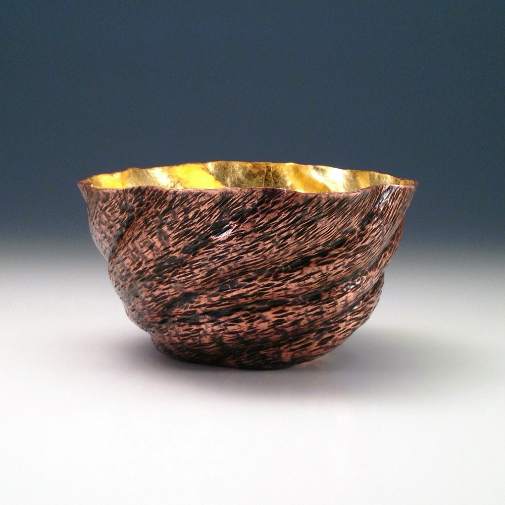 "Raised Copper Vessel, ""Burl Bowl"""