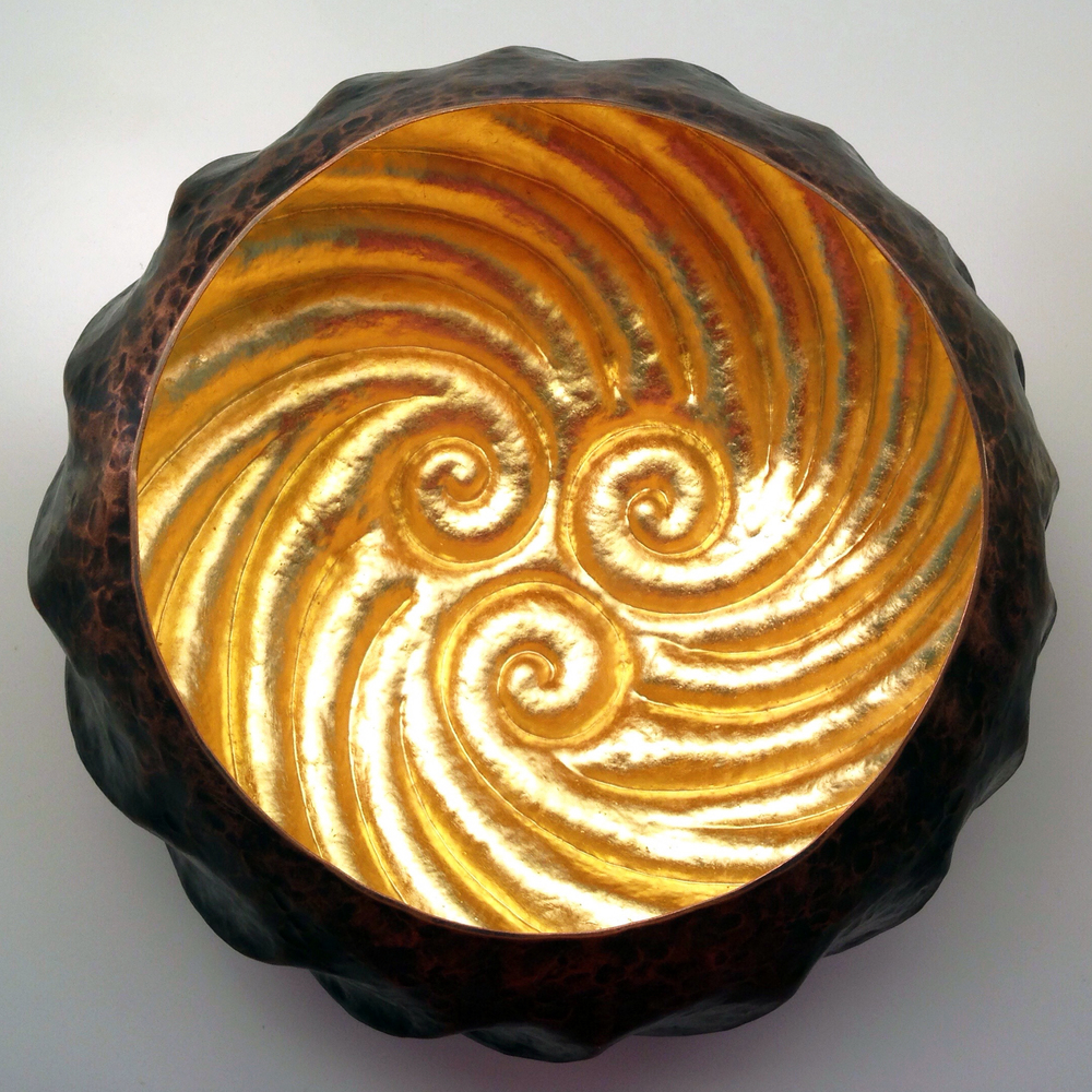 "Raised Copper Vessel, ""Tidal Pool Reflector I"""